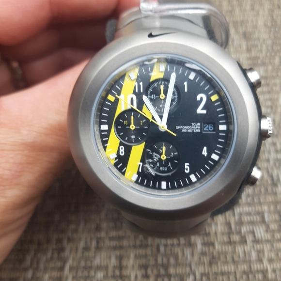 Lance Chrono titanium black 100m watch